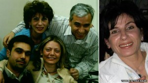 Samira al-Khalil (top left and far right) was taken along with her colleagues