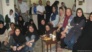 Activists at Nargess Mohammadi Home