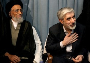 Ayatollah Taheri and MirHosein Mousavi