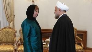 Catherine Ashton and President Rohani