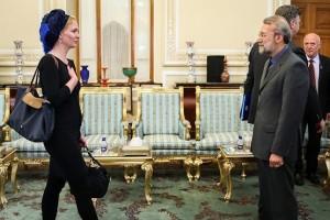 Marietje Schaake  and Ali Larijani
