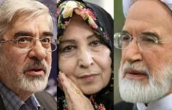 Mousavi - Rahnavard - Karroubi