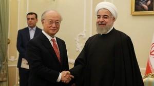 Amano met President Rohani in Tehran