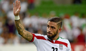 Ashkan Dejagah has played for Iran's National team for four years.