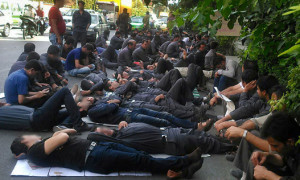 Workers of Sarcheshmeh Copper in protest in Tehran
