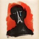 Heidari's most recent cartoon in response to the Paris attacks.