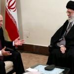 Vladimir Putin and Ayatollah Khamenei