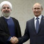 Hassan Rohani and Vladimir Putin