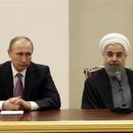 Vladimir Putin adn Hasan Rohani