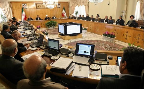 Rohani cabinet meeting