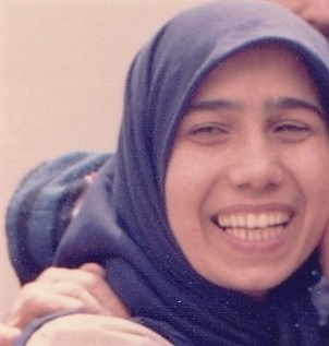 Mahnaz Parakand, moments after her release in 1986