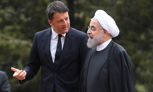Renzi and Rohani in Tehran
