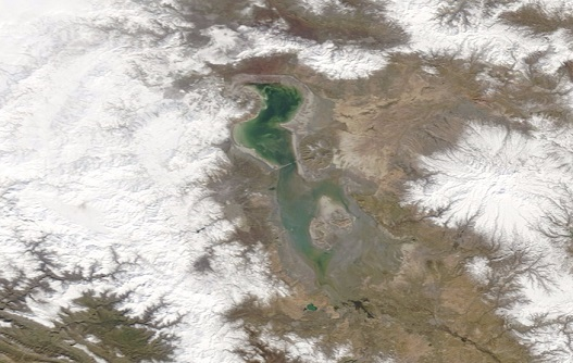 Latest Satellite Photos of Lake Urmia