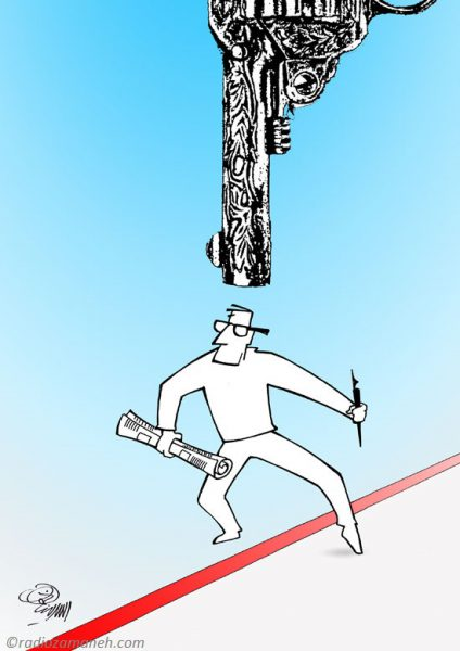 Assad-Binakhahi-Cartoon-Freedom-Press-Books-May-2016-424x600