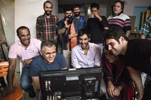 Mani Haghighi and the Cast of 50 Kilos of Sour Cherries