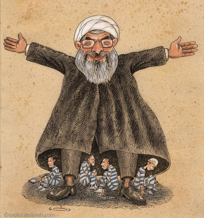 Cartoon 1 Hasan Rohani Jozani Reza rohani_rezajozani_20160620