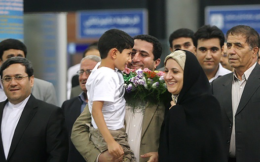 Shahram Amiri recived a hero's welcome upon return to Iran in 2010 from the US.