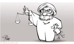 larijani-human-rights-in-iran-assad-binakhahi-cartoon