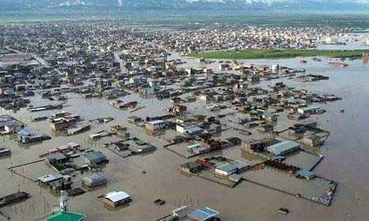 Flood in Roodsar, Iran , Spring 2019
